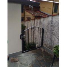 Wrought Iron Pedestrian Gate. Customize Realisations. 046 Pedestrian, Wrought Iron, Gate, Applique, Design, Houses, Portal