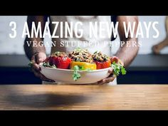 Vegan Chorizo Mexican Stuffed Peppers - Make It Dairy Free % Italian Stuffed Peppers, Vegan Stuffed Peppers, Kale Recipes, Mexican Food Recipes, Vegan Recipes, Homemade Tacos, Homemade Taco Seasoning, Vegan Chorizo, Vegan Burrito