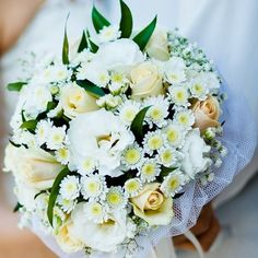 Morning Surprise Bridal Bouquet - Buy Online in Hartford Flower Shop Wedding Bouquets, Wedding Flowers, Bouquet Toss, Order Flowers, Cream Roses, Gerbera, Diy Wedding, Dream Wedding, Wedding Ideas