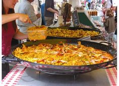 Paella from the market, Provence
