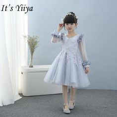 Product reviews for It s yiiya Fashion Patchwork Mesh Flower Girl Dresses  Summer Long Sleeve O- cc504c7b109d
