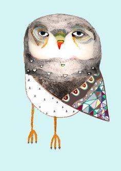 Owl by Ashley Percival by Ashley Percival Illustrator