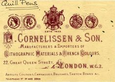 Quill pens advertisement ~ London