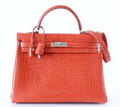 Hermes Kelly 35 Bag Sanguine Red Matte Alligator Retourne Palladium