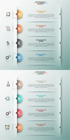 Modern Infographic Options (2 Items) Template #design Download: http://graphicriver.net/item/modern-infographic-options-template-2-items/9311890?ref=ksioks