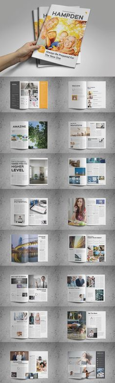 #magazine #design from GreenDesign | DOWNLOAD: https://creativemarket.com/GreenDesign/382886-Hampden-Magazine?u=zsoltczigler
