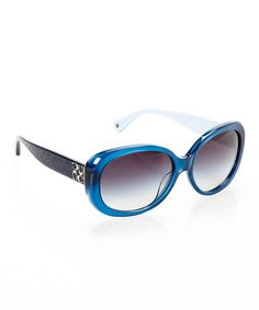Take a look at this Blue Oval Sunglasses by Coach Sunglasses & Opticals on #zulily today!