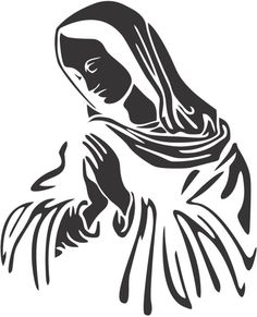 Set 2 Pieces Our Lady of Guadalupe Sticker Decals 20 Colors Horse Stencil, Stencil Art, Stencils, Custom Vinyl Lettering, Custom Decals, Jesus Drawings, Art Drawings, Celtic Symbols, Scroll Design