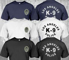 Mens K9 Canine Police Officer SWAT Embroidered Polo Shirts