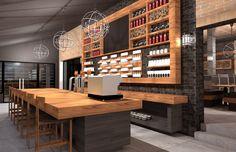 Restaurant à Montréal - Plan de maison, plan de rénovation et plans aménagement intérieur et extérieur -