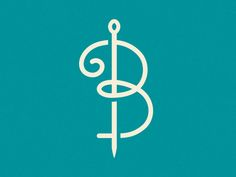 If you know the brand (B Threads) this logo is really great in its simplicity and legibility.