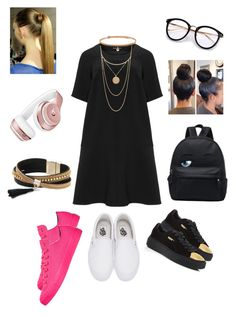 """A Day in the City ✨ (plus size ! 😍)"" by angeliqueamor on Polyvore featuring Manon Baptiste, Vans, Puma, Converse, Beats by Dr. Dre, Simons, BERRICLE and Forever 21"