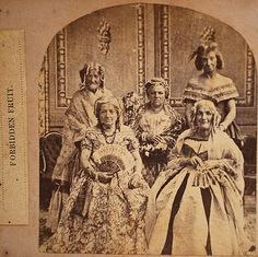 C 1860 or C 1870 Forbidden Fruit – Men Dressed as Women Men in Drag Stereoview | eBay