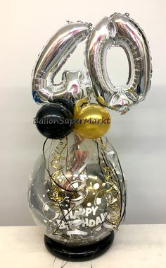 Balloon Crafts, Birthday Balloon Decorations, Balloon Centerpieces, Birthday Balloons, Balloon Box, Balloon Gift, Balloon Flowers, Ballon Arrangement, Birthday Hampers