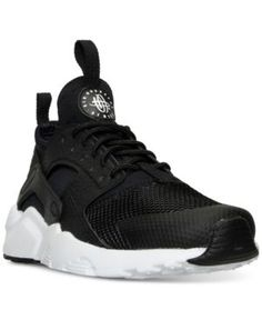Nike Boys' Air Huarache Run Ultra Running Sneakers from Finish Line - Black 4.5