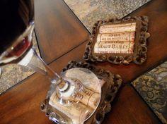 Brown Rustic Cork Coasters