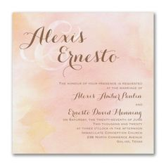 40% OFF   http://mediaplus.carlsoncraft.com/Wedding/Wedding-Invitations/3254-TWS40741-Blushing-Watercolor--Invitation.pro