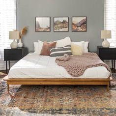 Room Ideas Bedroom, Home Bedroom, Dream Bedroom, Modern Boho Master Bedroom, Calm Bedroom, Mid Century Modern Bedroom, Zen Bedroom Decor, Neutral Bedroom Decor, Bedrooms
