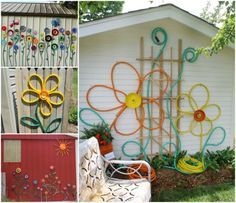 Plate Flowers Garden Art Looks Amazing