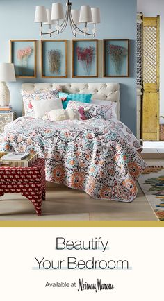 From a quilted coverlet to a tufted headboard, choose from an incredible selection of designer furnishing and home d?cor. Beautifully decorate every room in your home at Neiman Marcus.