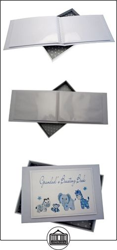 White Cotton Cards Grandad's Boasting Book - Álbum de fotos para abuelo (tamaño pequeño), color azul  ✿ Regalos para recién nacidos - Bebes ✿ ▬► Ver oferta: http://comprar.io/goto/B00DQSQDLS