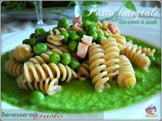 Pasta+integrale+con+crema+di+piselli