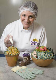 Cadbury World create a flowery creation for spring. Cadbury World, Car Smell, Handmade Chocolates, Like Chocolate, Chocolate Factory, Wonderful Things, Birmingham, Britain, The Incredibles
