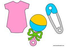 SAGOME PER NASCITA BAMBINI Sagome utili a realizzare biglietti e addobbi per nascita bambino o bambina.