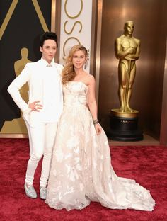 MY MAN Johnny Weir and Tara Lipinski in Louis Leeman and Rani Zakhem