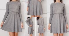 Cute DIY dresses tutorials in Spanish Diy Clothing, Sewing Clothes, Clothing Patterns, Dress Patterns, Sewing Patterns, Dress Sewing, Fashion Sewing, Diy Fashion, Diy Vetement