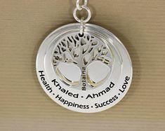 Tree of life minimalist Tree Necklace, Tree Of Life, Minimalist, Pendants, Personalized Items, Etsy, Jewelry, Jewlery, Jewerly