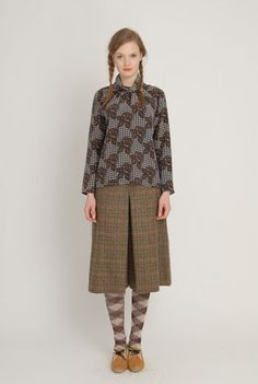 Eley Kishimoto love the textures, the legs, pleat, plaits, mustard touch at the toes