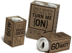 Light Bulb Packaging - Leilani Silversten