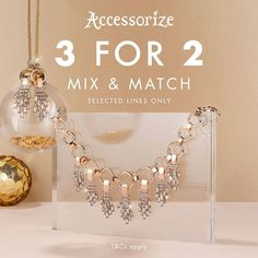 3 FOR 2 MIX AND MATCH at ACCESSORIZE, Coopers Square Shopping Centre 🎁  Available in store now for a limited time only!  *Selected Lines only. Terms and conditions apply, see in-store for details. #femalegears.com #random #lovethese #shopping #women #female