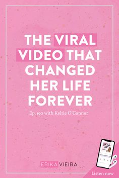 The Viral Video That Changed Her Life Forever with Keltie O'Connor - Erika Vieira Blog Topics, Blogging For Beginners, Make Money Blogging, Pinterest Marketing, Social Media Tips, Viral Videos, How To Start A Blog, Erika, Scary