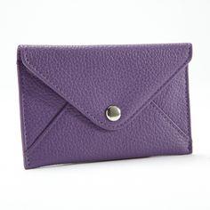 Purple Card Envelope | Full Grain Grape Leather