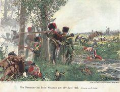 Nassua light infantry Hougoumont woods 1815