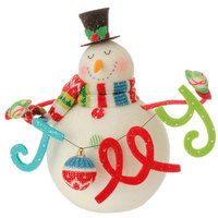 RAZ Merry and Bright Snowman with Jolly Sign. Item  3516509
