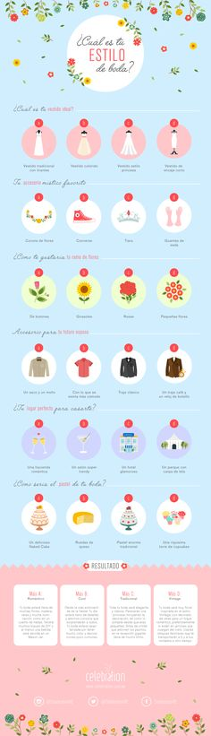 Contesta este test para que definas qué tipo de boda es la ideal según tu personalidad #infografia #boda #test