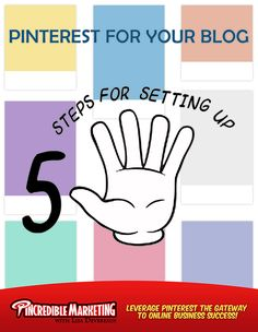 """Steps for Setting up Pinterest for your Blog.Most of us start blogging first setting up a homepage online to write and share our thoughts, interests and passions online. However at some stage a blogger will want to connect with social media site and the question is raise, """"How do I post my blogs on Pinterest and build a following?' This blog post shares 5 Steps for Setting up Pinterest for your Blog. Become a master at using Pinterest to drive more traffic, leads and sales to any business…"""
