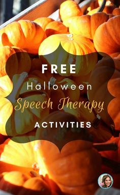 free Halloween Speech Therapy activities for SLPs! This is awesome- links to free speech therapy halloween activities and games!