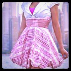 Pink skirt Pure Chinese silk, made from a chicago designer Anastasia Chatzka. Skirts