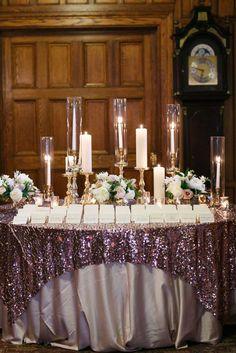 Wedding reception escort card table idea; Featured Photographer: Kina Wicks Photography