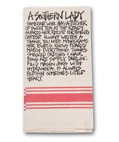 Love this 'A Southern Lady' Dish towel by Magnolia Lane on #zulily! #zulilyfinds