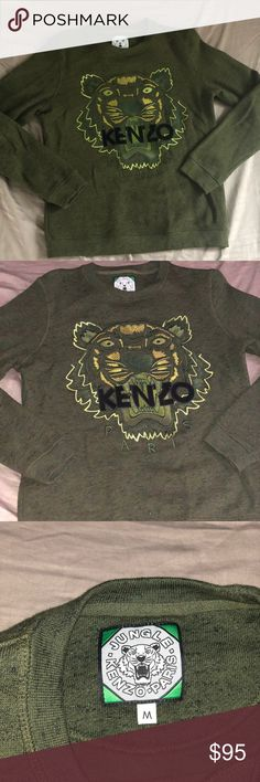 e1a40703d3a Kenzo sweater for women Only worn once 100% Authentic Army green Great  condition Kenzo Sweaters