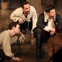 Bard on the Beach's Equivocation Offers Laughs, Dilemmas, and Drama Amid a Powerful, Talented Cast  --- EXCELLENT PLAY!!!  Saw the matinee on Sep 14/14.  I even met the male lead (Shagspeare).  What a cutie!!
