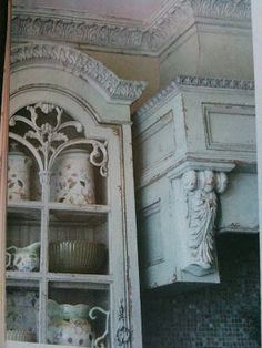 via French Country Cottage, photo from the Beautiful Kitchens Baths winter 2010 issue ~ amazing French country style kitchen Shabby Chic Pink, Shabby Vintage, Shabby Chic Homes, French Country Cottage, French Country Style, Cottage Style, Cottage Farmhouse, French Chic, French Farmhouse