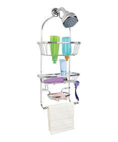 Chrome Hammered Wire Three-Tier Shower Caddy by Kennedy Collection on #zulily today!