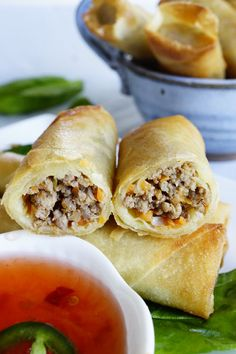 Looking for Fast & Easy Appetizer Recipes, Asian Recipes, Beef Recipes! Recipechart has over free recipes for you to browse. Find more recipes like Easy Filipino Lumpia. Easy Lumpia Recipe, Lumpia Recipe Filipino, Banana Lumpia Recipe, Lumpia Wrapper Recipe, Filipino Egg Rolls, Asian Recipes, Beef Recipes, Cooking Recipes, Ethnic Recipes