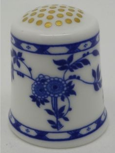 Blue Delft. Bicentenary Collection.  Thimble-Dedal-Fingerhut.